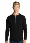 MEN'S LONG SLEEVE THERMAL WAFFLE HENLEY front Thumb Image