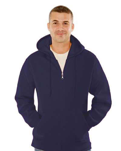 MEN'S 16 OZ. FULL-ZIP KANGAROO HOODY front Image
