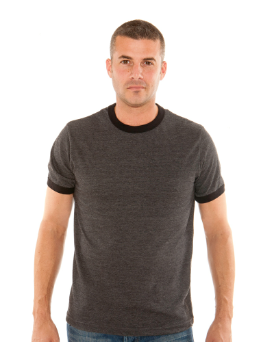 MEN'S 9 OZ. SHORT-SLEEVE RINGER T-SHIRT front Image