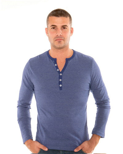 MEN'S 9 OZ. LONG-SLEEVE HENLEY T-SHIRT front Image