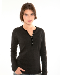 WOMEN'S 9 OZ. LONG-SLEEVE HENLEY T-SHIRT front Thumb Image