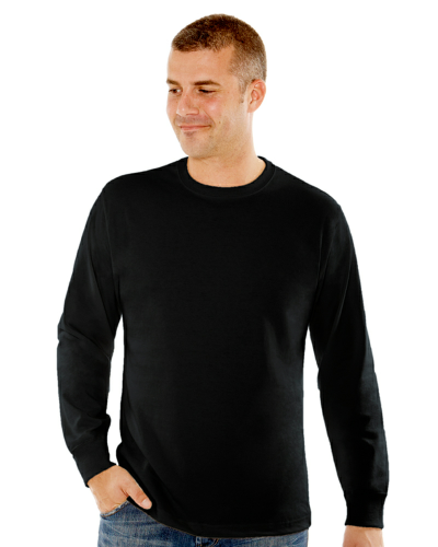 MEN'S 9 OZ. LONG-SLEEVE CREWNECK T-SHIRT front Image