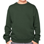 YOUTH 16 OZ. CREWNECK w/ V-INSERT SWEATSHIRT front Thumb Image