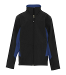 COAL HARBOUR® EVERYDAY COLOUR BLOCK SOFT SHELL YOUTH JACKET front Thumb Image