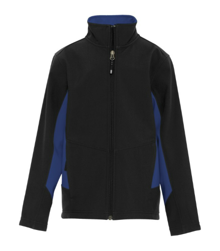 COAL HARBOUR® EVERYDAY COLOUR BLOCK SOFT SHELL YOUTH JACKET front Image