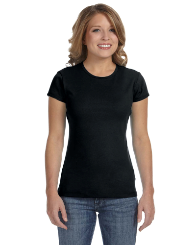 Ladies' Stretch Rib Short-Sleeve T-Shirt front Image