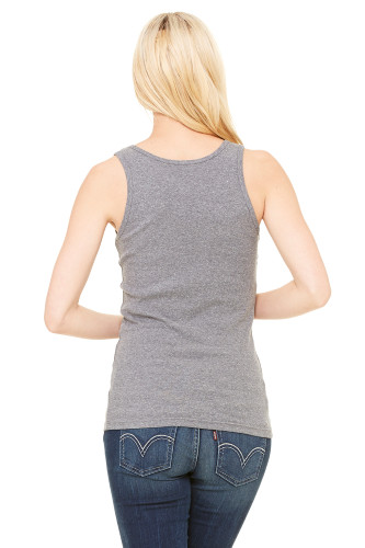 Ladies' Stretch Rib Tank back Image