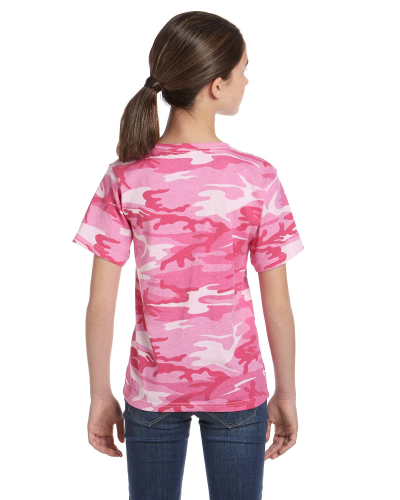 Youth Camouflage T-Shirt back Image