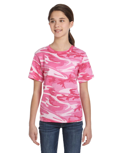 Youth Camouflage T-Shirt front Image