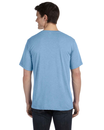 Unisex Triblend Short-Sleeve V-Neck T-Shirt back Image