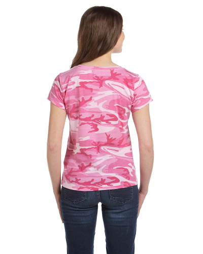Ladies' Fine Jersey Camouflage T-Shirt back Image