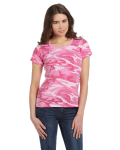 Ladies' Fine Jersey Camouflage T-Shirt front Thumb Image