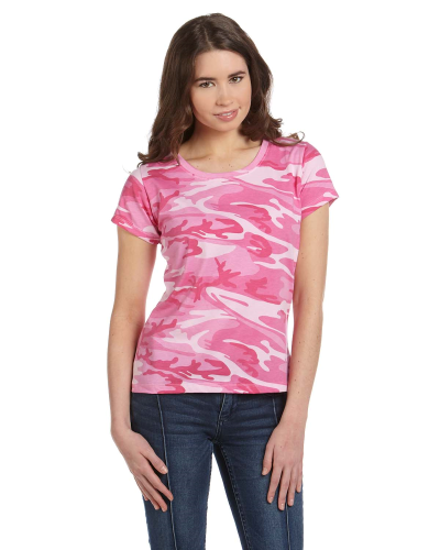 Ladies' Fine Jersey Camouflage T-Shirt front Image