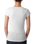 Ladies' Poly/Cotton Short-Sleeve Tee back Thumb Image