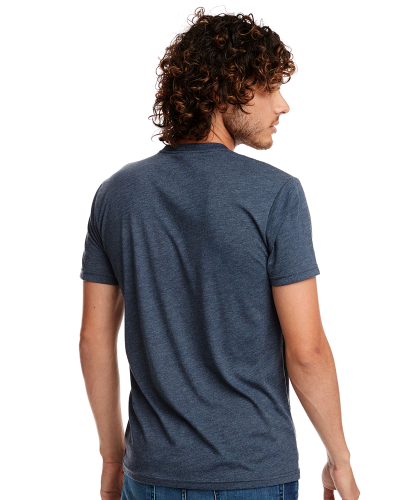 Men's Triblend Crew Tee back Image