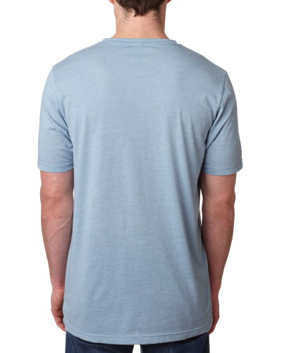 Men's Poly/Cotton Short-Sleeve Crew Tee back Image