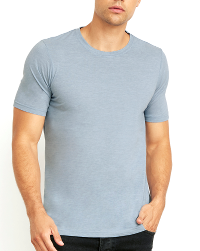 Men's Poly/Cotton Short-Sleeve Crew Tee front Image