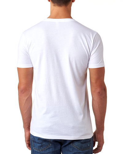 Men's CVC Tee with Pocket back Image