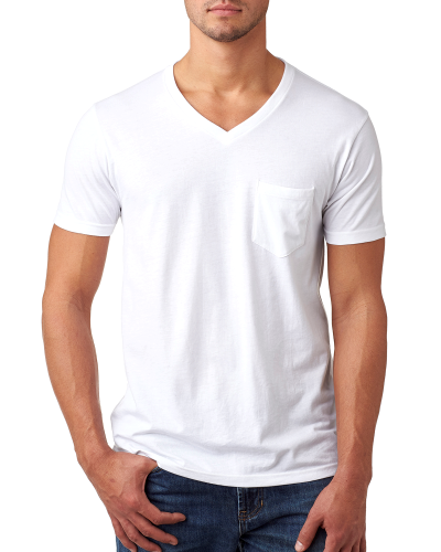 Men's CVC Tee with Pocket front Image