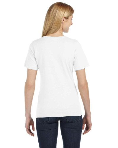 Missy's Relaxed Jersey Short-Sleeve V-Neck T-Shirt back Image