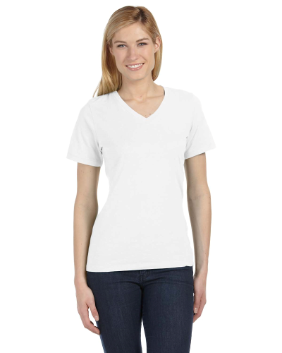 Missy's Relaxed Jersey Short-Sleeve V-Neck T-Shirt front Image