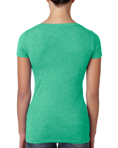 Ladies' Triblend Scoop Tee back Image