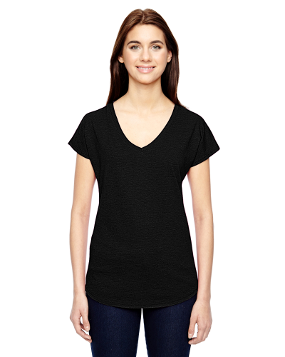 Ladies' Triblend V-Neck T-Shirt front Image