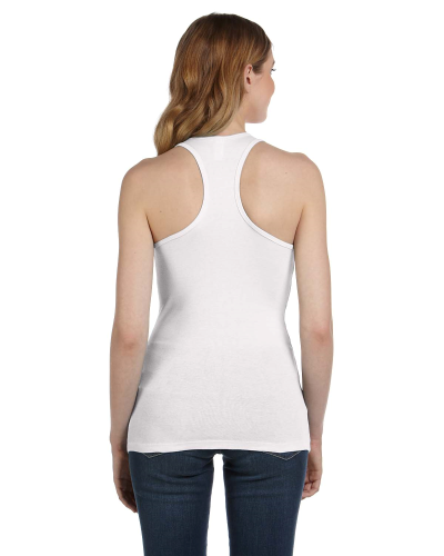 Ladies' Sheer Mini Rib Racerback Tank back Image