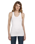 Ladies' Sheer Mini Rib Racerback Tank front Thumb Image