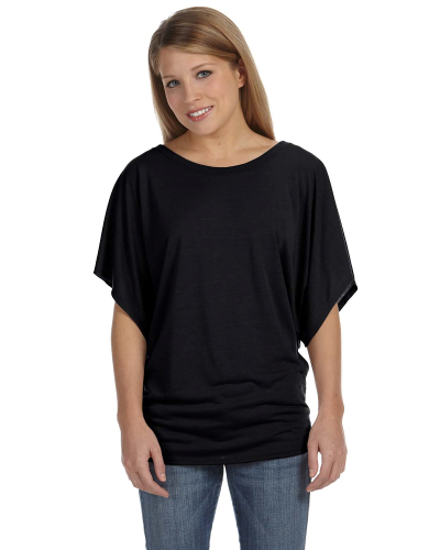 Ladies' Flowy Draped Sleeve Dolman T-Shirt front Image