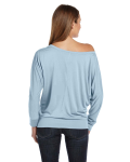 Ladies' Flowy Long-Sleeve Off Shoulder T-Shirt back Thumb Image