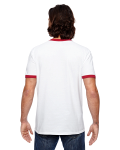 Adult Lightweight Ringer T-Shirt back Thumb Image