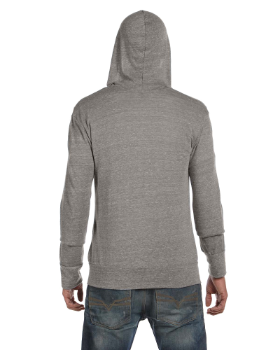 Men's Eco Long-Sleeve Zip Hoodie back Image