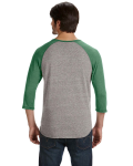 Men's Eco-Jersey 3/4-Sleeve Raglan Henley back Thumb Image