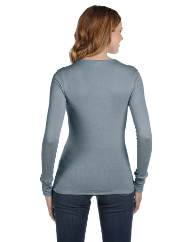 Ladies' Thermal Long-Sleeve T-Shirt back Image