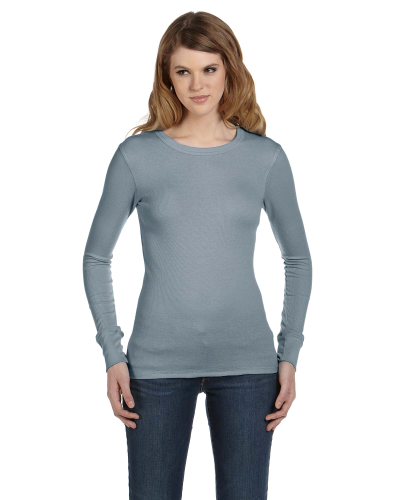 Ladies' Thermal Long-Sleeve T-Shirt front Image