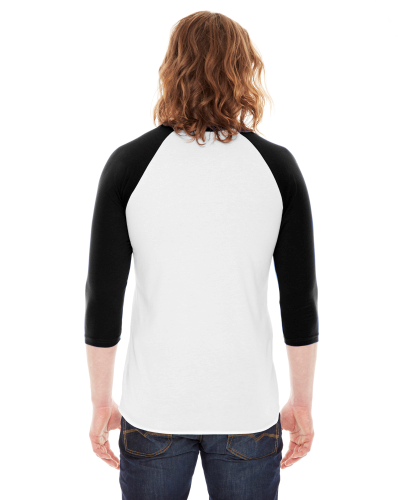 Poly-Cotton Baseball Raglan Tee back Image