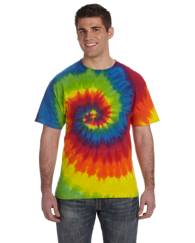 5.4 oz., 100% Cotton Tie-Dyed T-Shirt front Image