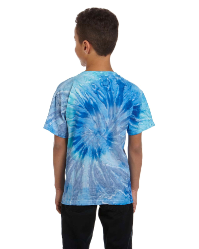 Youth 5.4 oz., 100% Cotton Tie-Dyed T-Shirt back Image