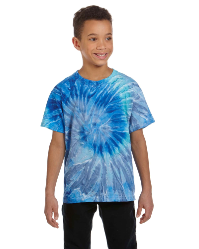 Youth 5.4 oz., 100% Cotton Tie-Dyed T-Shirt front Image