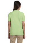 Pima Piqué Short-Sleeve Y-Collar Polo back Thumb Image