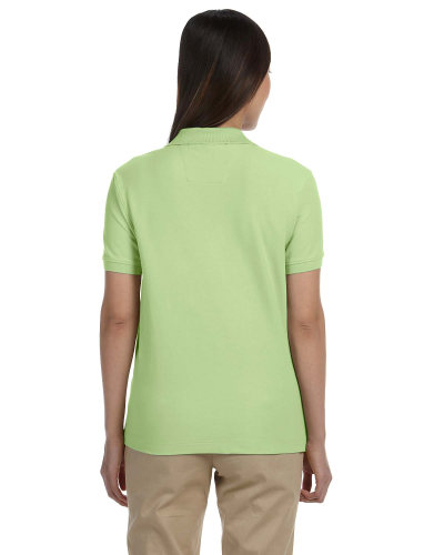 Pima Piqué Short-Sleeve Y-Collar Polo back Image