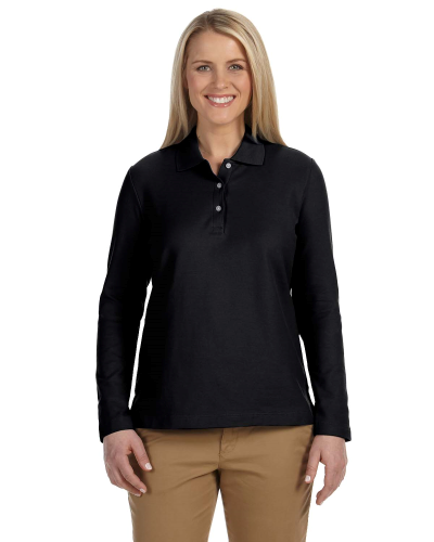 Pima Piqué Long-Sleeve Polo front Image