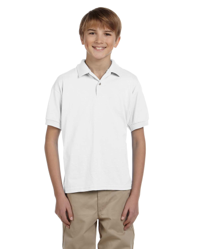 DryBlend® Youth 5.6 oz., 50/50 Jersey Polo front Image