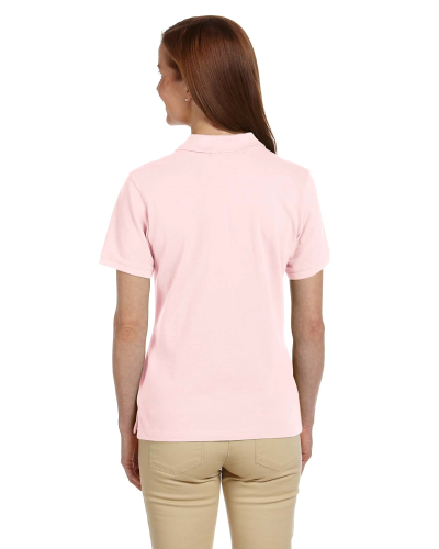 Ladies' Ringspun Cotton Pique Polo back Image