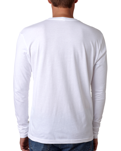 Men's Premium Fitted Long-Sleeve Crew Tee back Image
