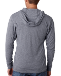 Unisex Triblend Long-Sleeve Hoodie back Thumb Image