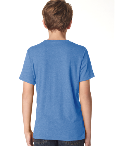 Boys Triblend Crew Tee back Image