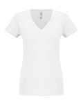 Ladies' Sueded V-Neck Tee front Thumb Image