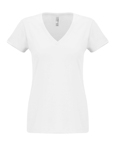 Ladies' Sueded V-Neck Tee front Image
